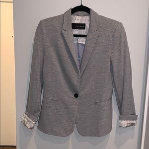 Zara Basic light gray cotton blazer, US size M